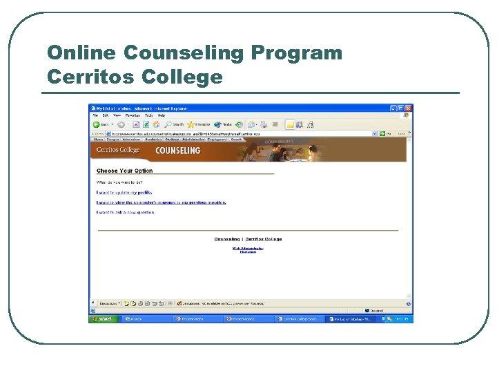 Online Counseling Program Cerritos College