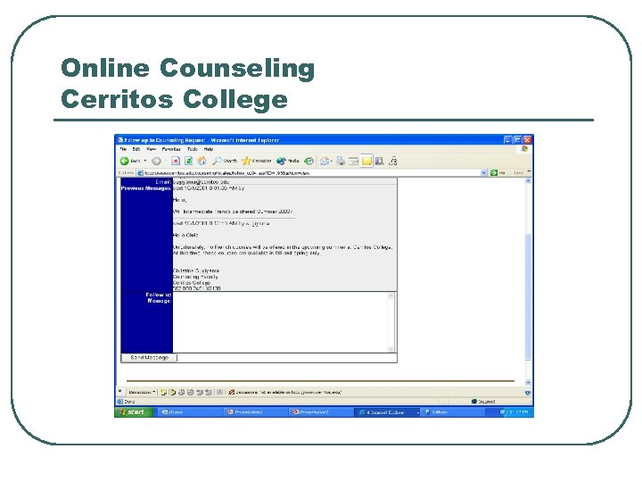 Online Counseling Cerritos College