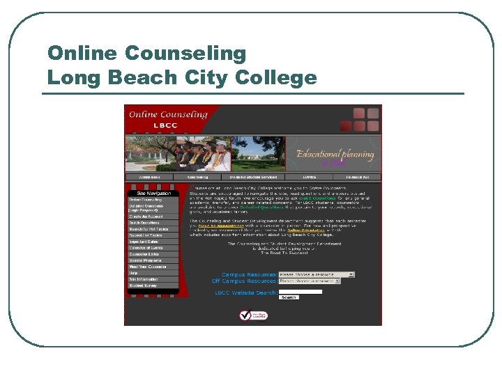 Online Counseling Long Beach City College