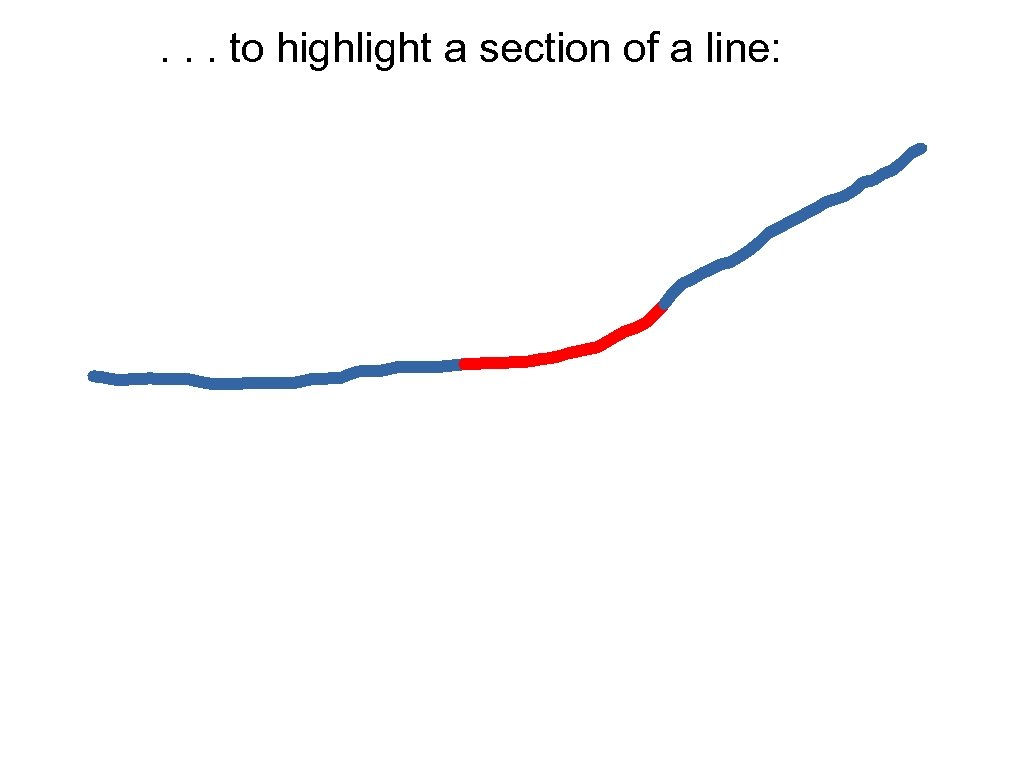 . . . to highlight a section of a line: