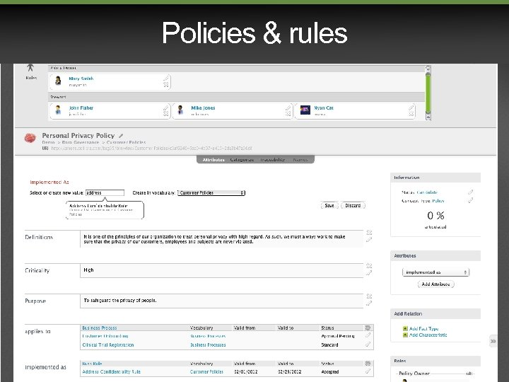 Policies & rules
