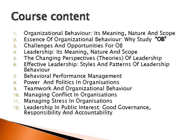 Course content 1. 2. 3. 4. 5. 6. 7. 8. 9. 10. 11. 12.