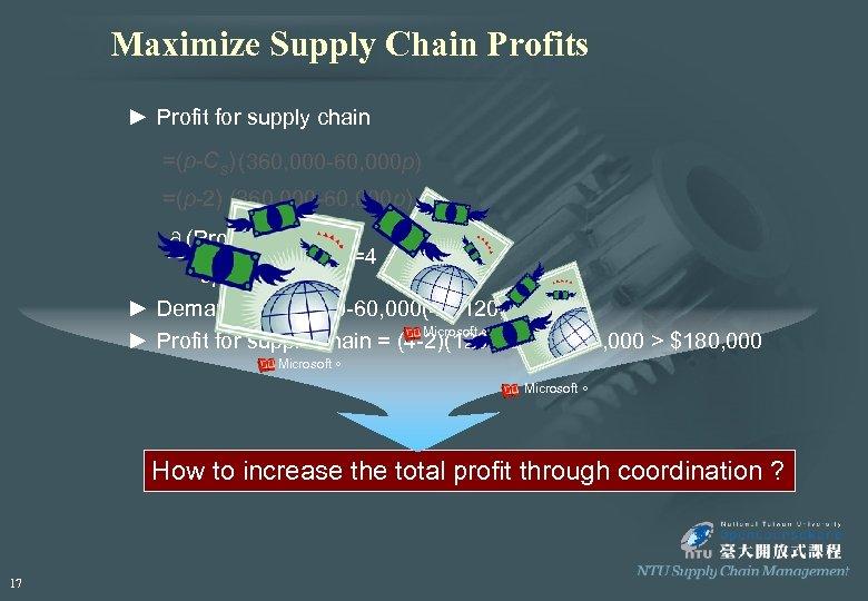 Maximize Supply Chain Profits ► Profit for supply chain =(p-Cs) (360, 000 -60, 000