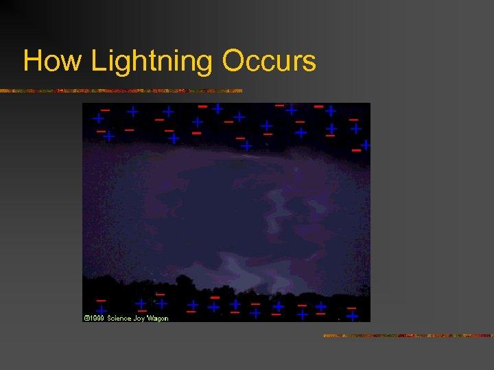 How Lightning Occurs