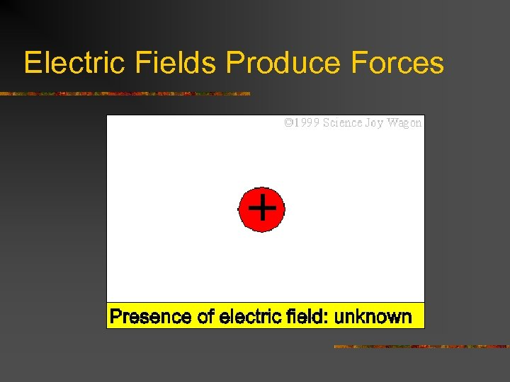 Electric Fields Produce Forces