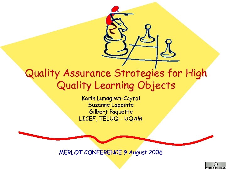 Quality Assurance Strategies for High Quality Learning Objects Karin Lundgren-Cayrol Suzanne Lapointe Gilbert Paquette
