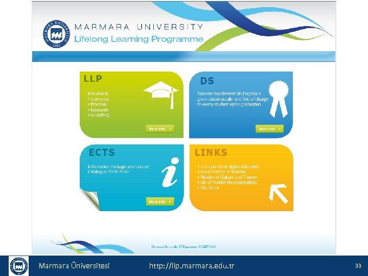 Marmara Üniversitesi http: //llp. marmara. edu. tr 33