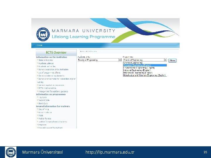 Marmara Üniversitesi http: //llp. marmara. edu. tr 35