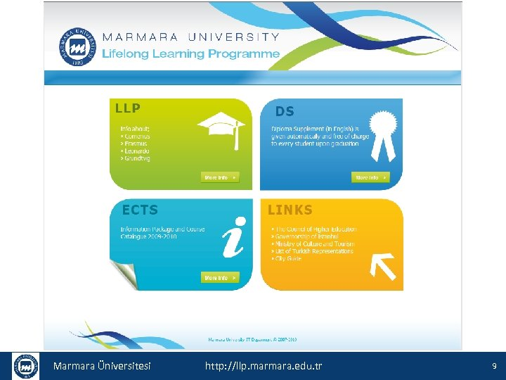 Marmara Üniversitesi http: //llp. marmara. edu. tr 9
