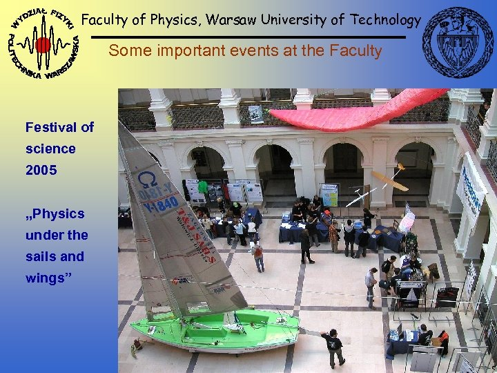 Faculty of Physics, Warsaw University of Technology Some important events at the Faculty Festival