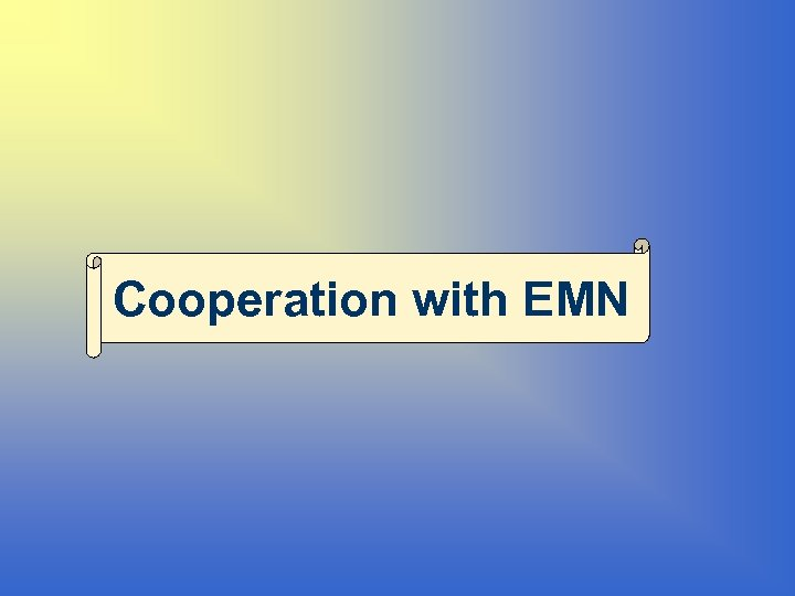 Cooperation with EMN