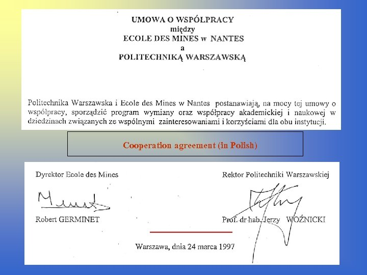 Cooperation agreement (in Polish)