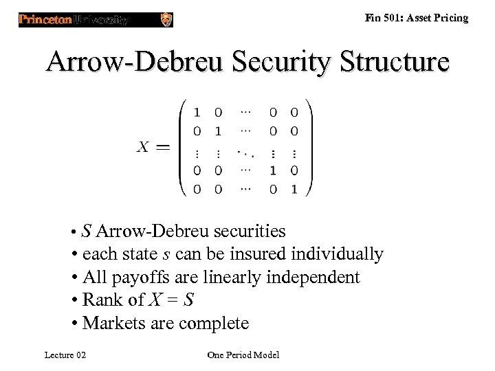 arrow debreu security