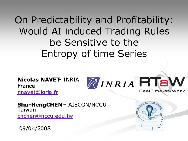 On Predictability and Profitability: Would AI induced Trading Rules be Sensitive to the Entropy