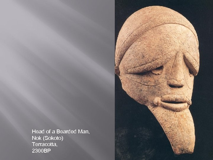Head of a Bearded Man, Nok (Sokoto) Terracotta, 2300 BP