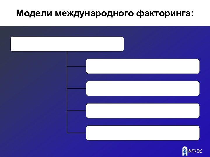 Модели международного факторинга: