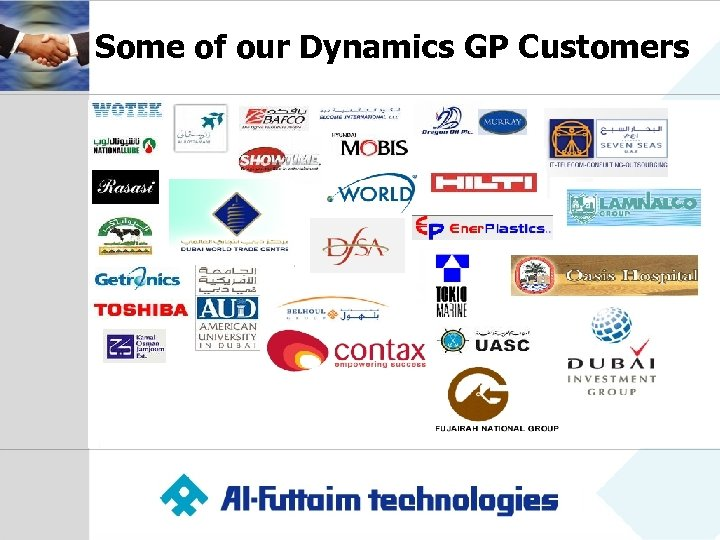 Some of our Dynamics GP Customers