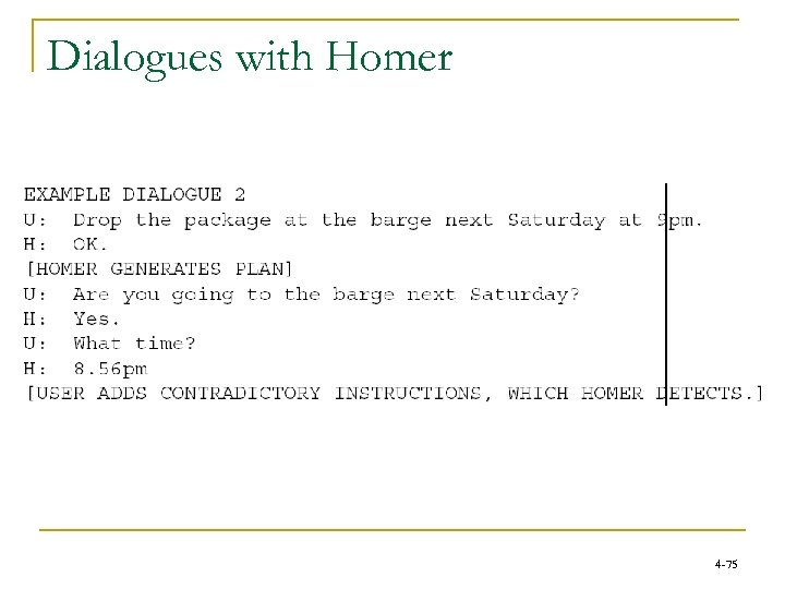 Dialogues with Homer 4 -75