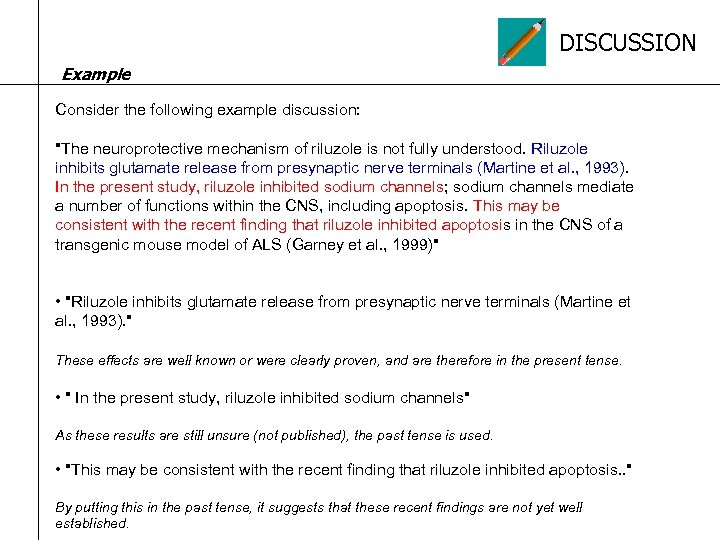 DISCUSSION Example Consider the following example discussion: