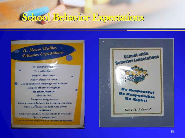 School Behavior Expectations 18