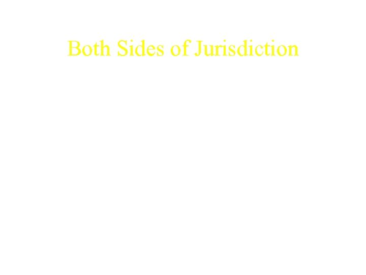 Both Sides of Jurisdiction • No other country has copyright laws as restrictive as