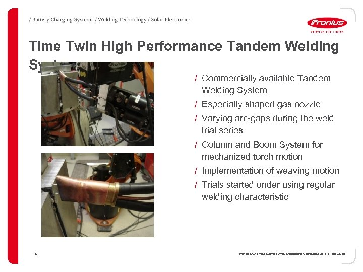 Time Twin High Performance Tandem Welding System / Commercially available Tandem Welding System /