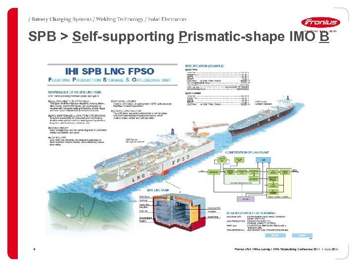 SPB > Self-supporting Prismatic-shape IMO B 9 Fronius USA / Mike Ludwig / AWS