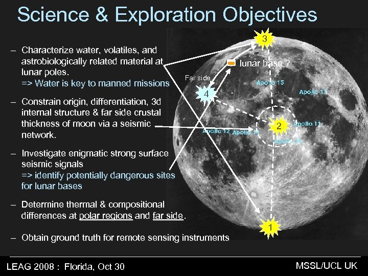 Science & Exploration Objectives 3 – Characterize water, volatiles, and astrobiologically related material at