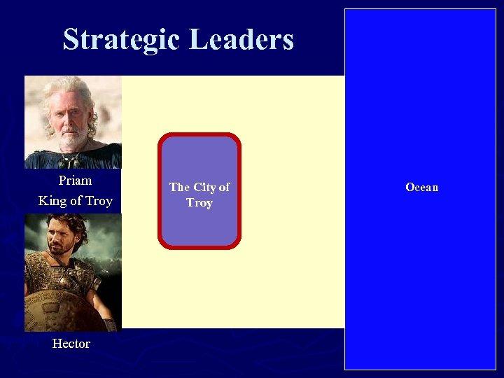 Strategic Leaders Priam King of Troy Hector The City of Troy Ocean