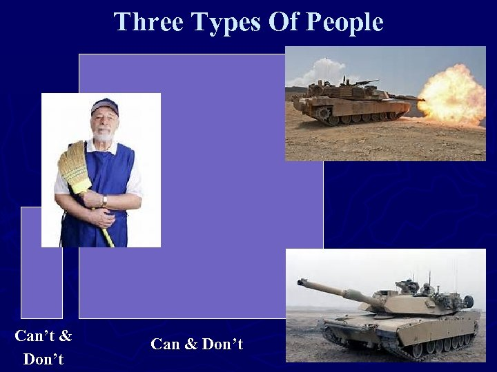 Three Types Of People Can't & Don't Can & Don't