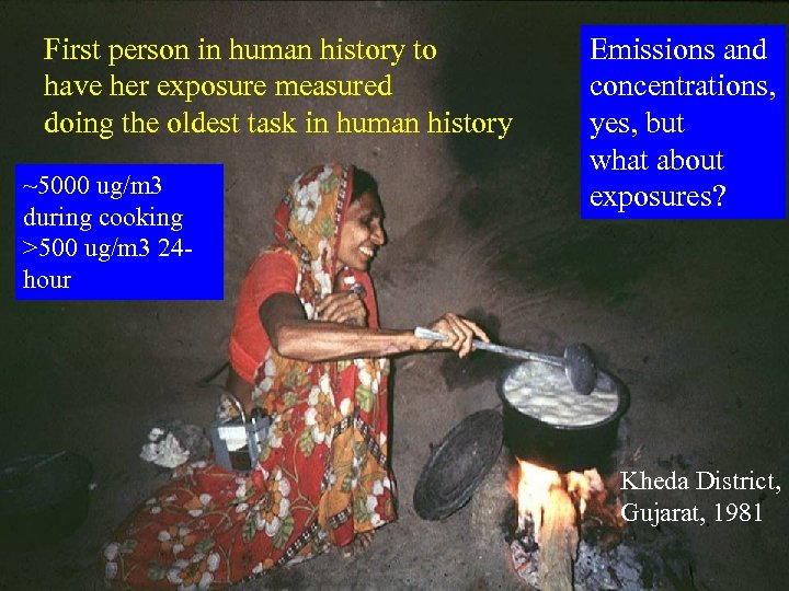 First person in human history to have her exposure measured doing the oldest task