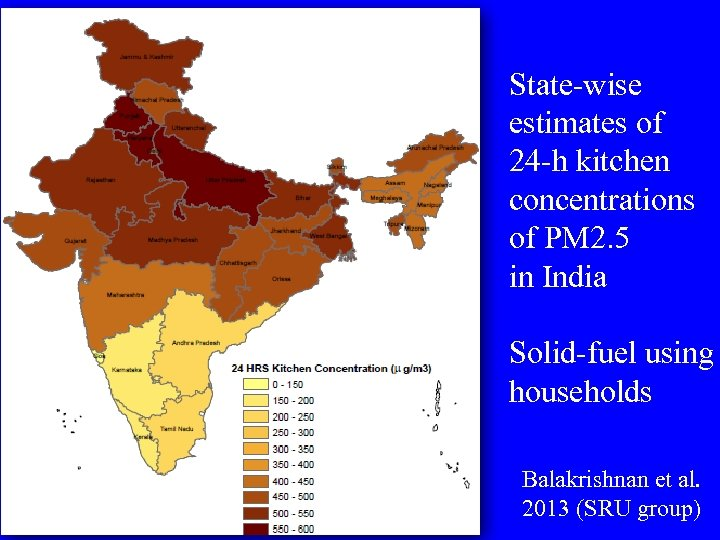 State-wise estimates of 24 -h kitchen concentrations of PM 2. 5 in India Solid-fuel