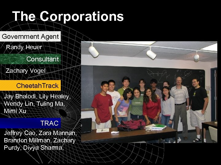 The Corporations Government Agent Randy Heuer Consultant Zachary Vogel Cheetah. Track Jay Bhalodi, Lily