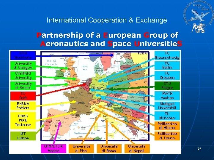 International Cooperation & Exchange Partnership of a European Group of Aeronautics and Space Universitie.