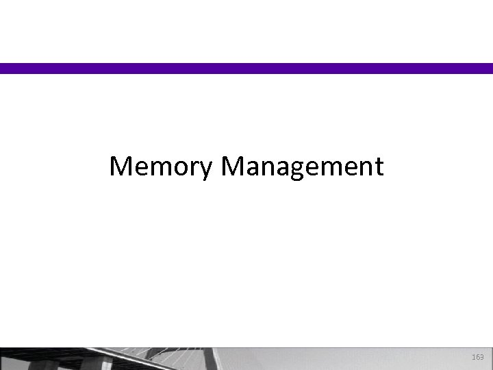 Memory Management 163