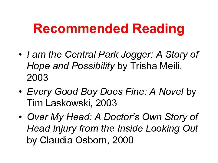 Recommended Reading • I am the Central Park Jogger: A Story of Hope and