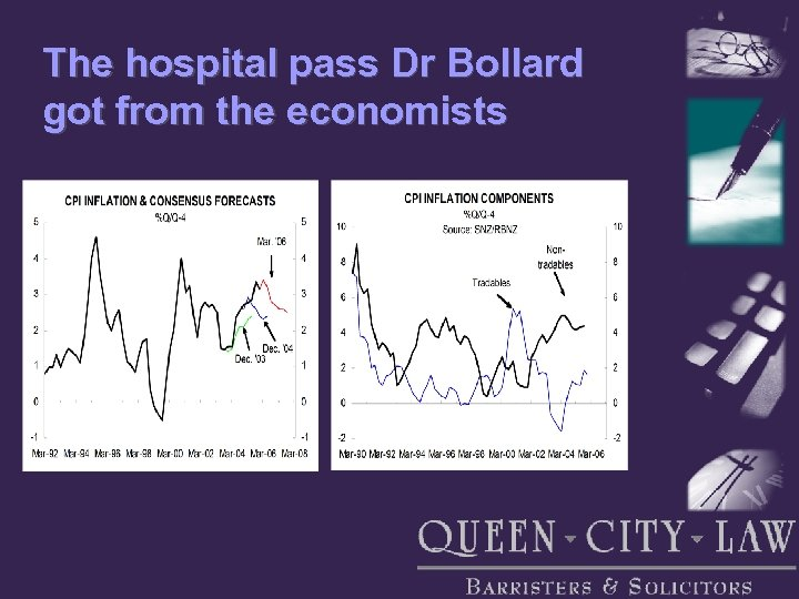 The hospital pass Dr Bollard got from the economists
