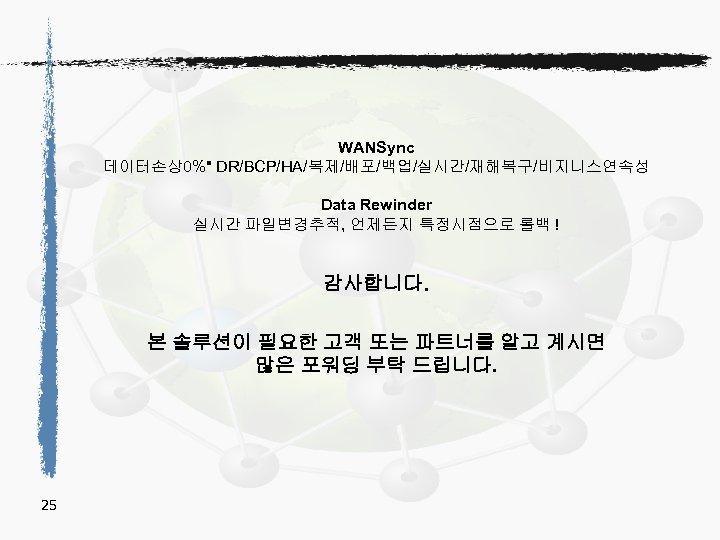 WANSync 데이터손상0%