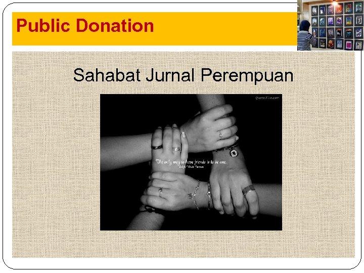 Public Donation Jurnal Sahabat Jurnal Perempuan