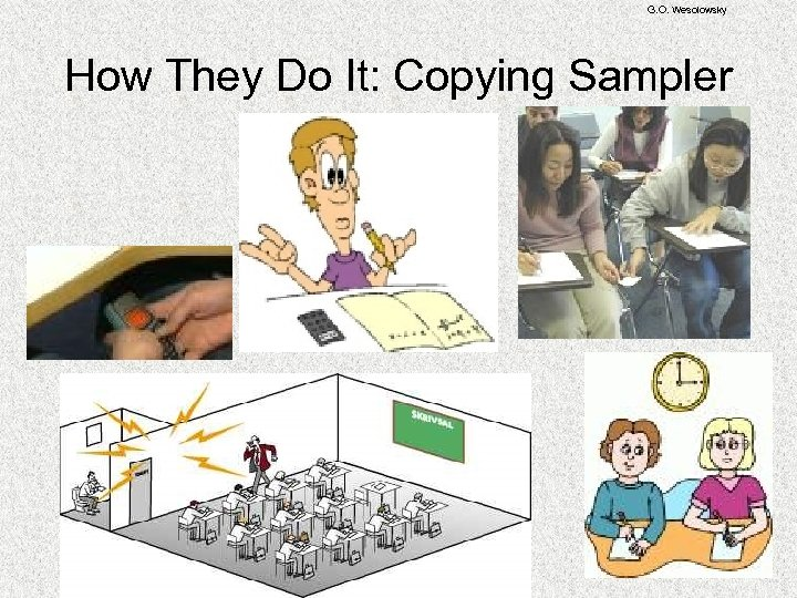G. O. Wesolowsky How They Do It: Copying Sampler