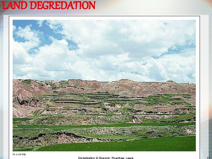 LAND DEGREDATION