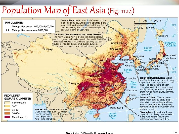 Population Map of East Asia (Fig. 11. 14)