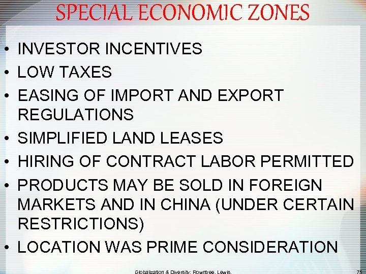 SPECIAL ECONOMIC ZONES • INVESTOR INCENTIVES • LOW TAXES • EASING OF IMPORT AND