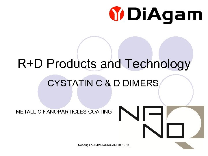 R+D Products and Technology CYSTATIN C & D DIMERS METALLIC NANOPARTICLES COATING Meeting LABIMMUN/DIAGAM.