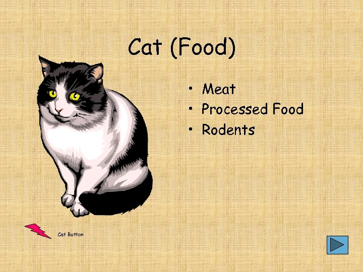 Cat (Food) • Meat • Processed Food • Rodents Cat Button