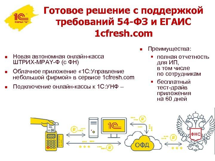 Готовое решение с поддержкой требований 54 -ФЗ и ЕГАИС 1 cfresh. com n n