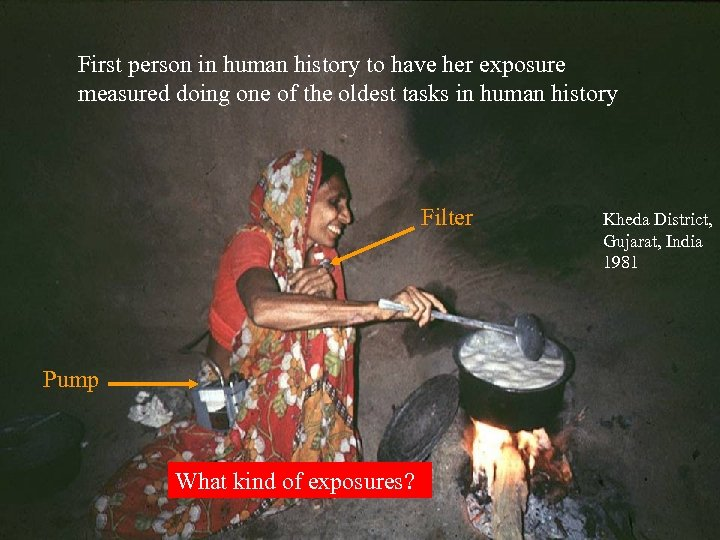 First person in human history to have her exposure measured doing one of the