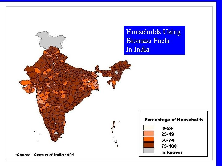 Households Using Biomass Fuels In India