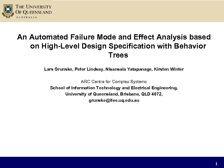 An Automated Failure Mode and Effect Analysis based on High-Level Design Specification with Behavior