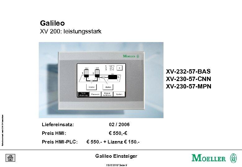 Galileo XV 200: leistungsstark Schutzvermerk nach DIN 34 beachten XV-232 -57 -BAS XV-230 -57